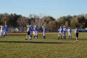 Me on the field a few years back (Jr. High game I think)
